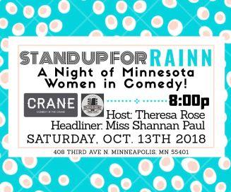 Comedy at the Crane 110.13.18
